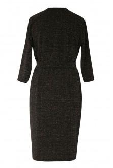 Czarna błyszcząca sukienka duże rozmiary