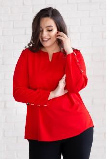 czerwona bluzka ness złote guziczki
