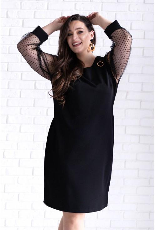 sukienka z broszką xxl