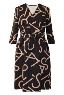 Czarna sukienka z wzorem xxl