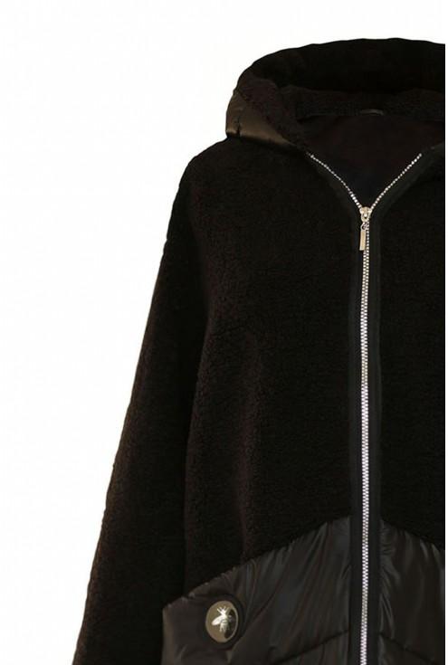 Czarna zapinana bluza duże rozmiary