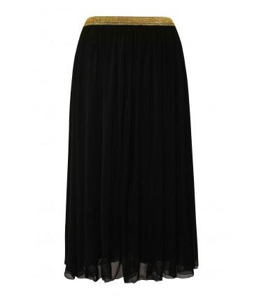Czarna tiulowa spódnica ze złotą gumką - HOLLY