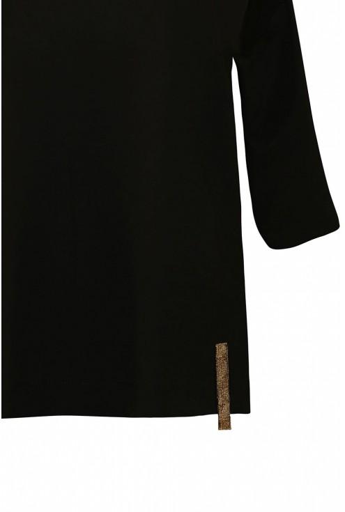 Czarna bluzka duże rozmiary