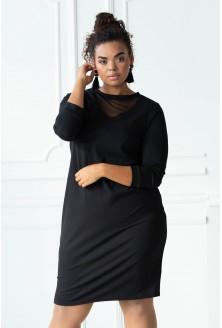 Czarna sukienka ołówkowa xxl