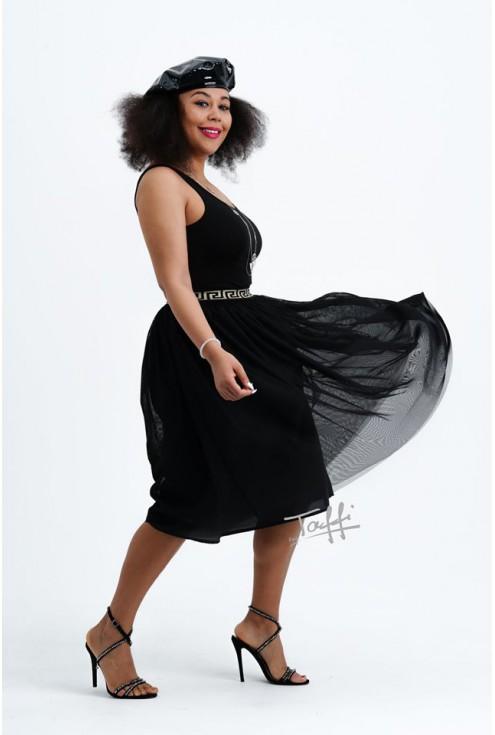 czarna tiulowa spódnica - duże rozmiary