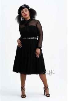 czarna bluzka z siateczką plus size