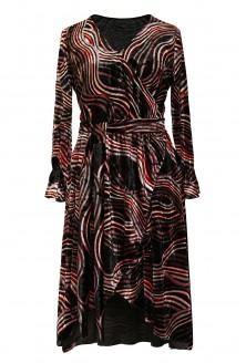 czarna sukienka dolce welur