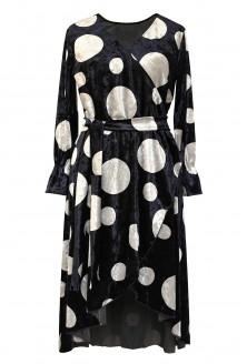 sukienka welurowa plus size groszki