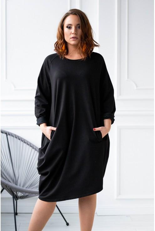 sukienka oversize czarna xxl plus size