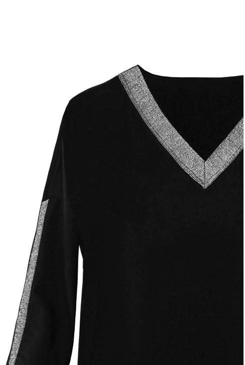 czarna bluzka w rozmiarach xxl