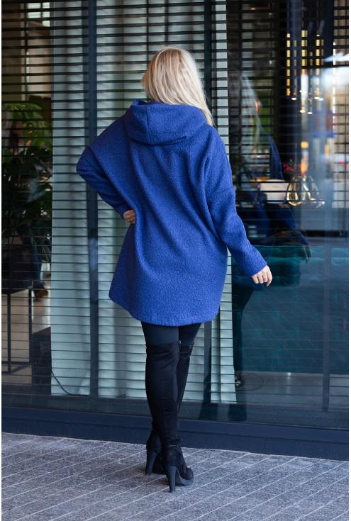 Płaszcz oversize z kapturem duże rozmiary