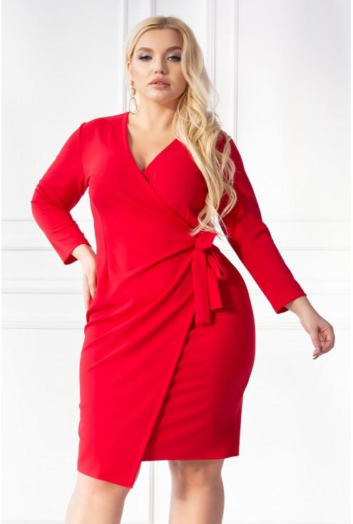 czerwona sukienka xxl