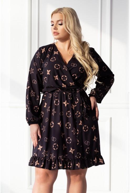 czarna zwiewna sukienka duże rozmiary