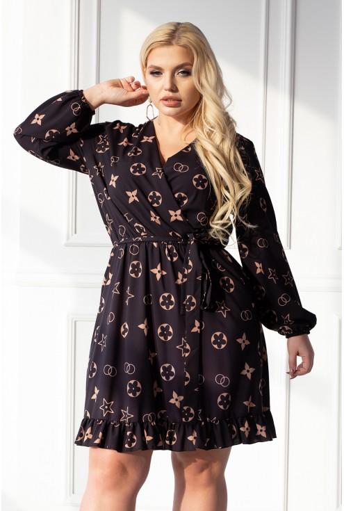 sukienka z modnym wzorem