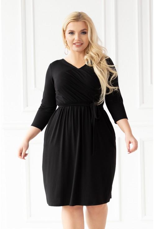 czarna modna sukienka plus size