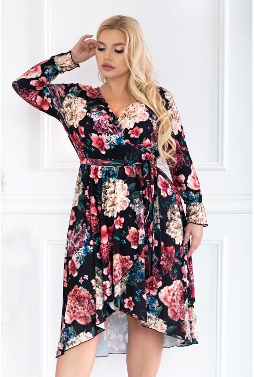 Sukienka w kwiatowy wzór DOLCE
