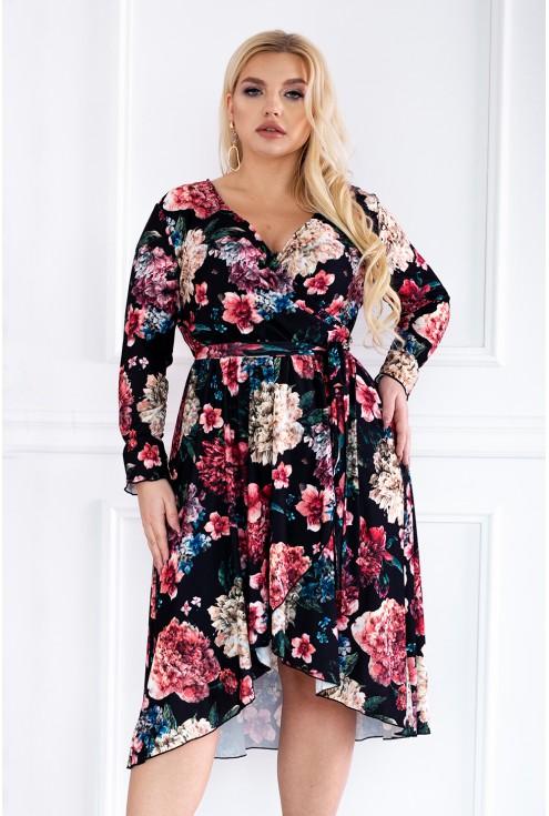 sukienka w kwiatowy wzór Dolce xxl