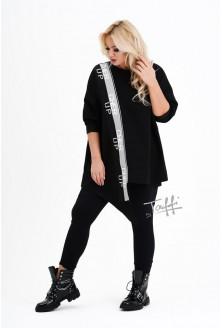 czarna bluzo - bluzka plus size CHERI
