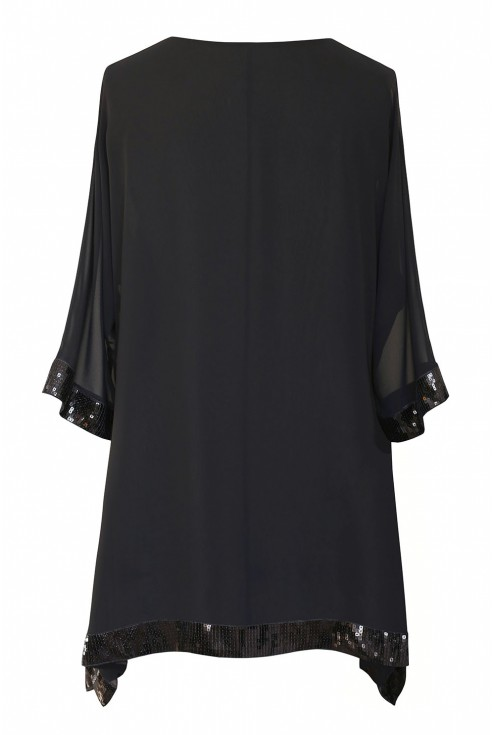 czarna bluzka Freya - tył