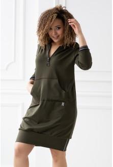 khaki tunika/sukienka duże rozmiary