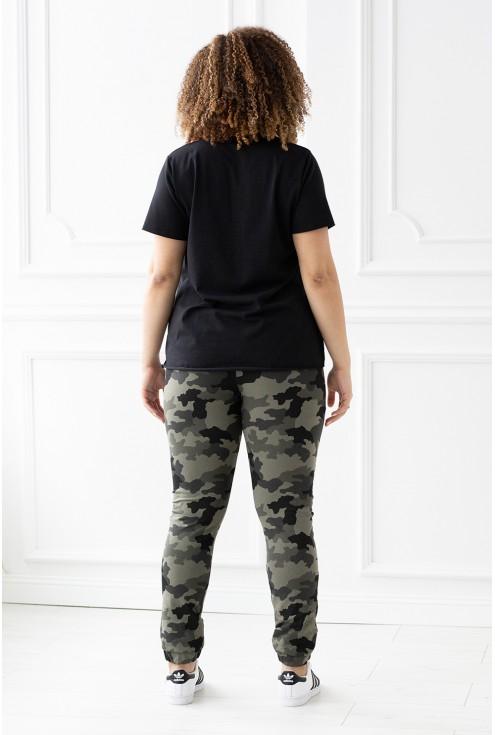 spodnie dresowe wzór moro - duże rozmiary