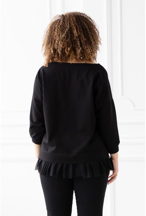 czarna bluza Caitlin - duże rozmiary