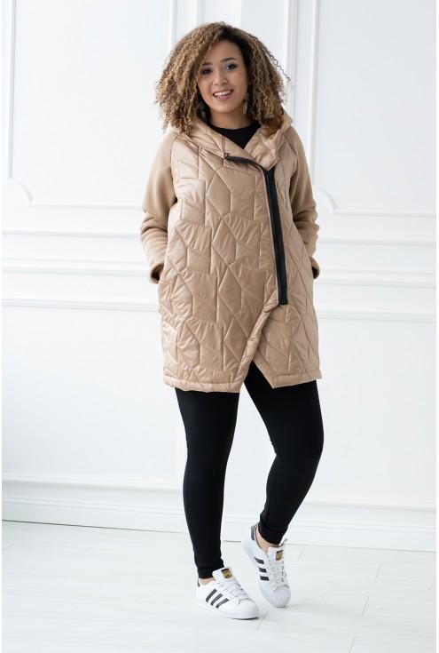 karmelowa bluza/kurtka Sissy duże rozmiary