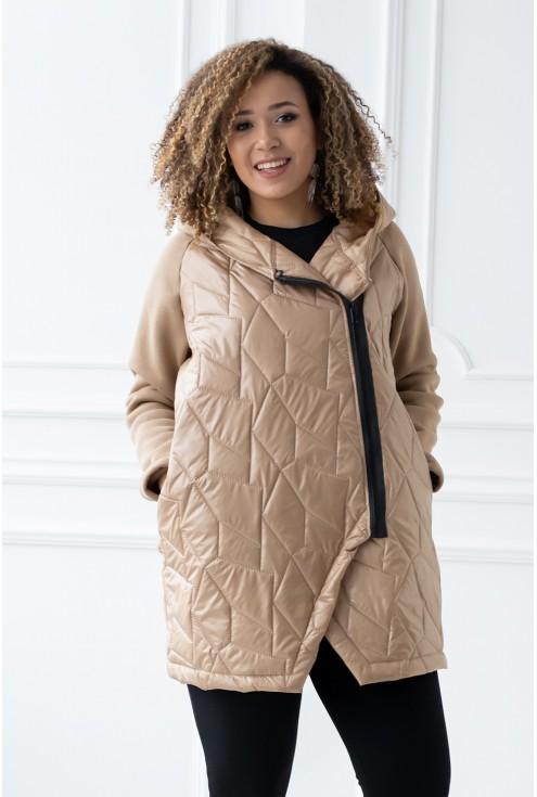 bluza/kurtka z kapturem kolor karmelowy xxl