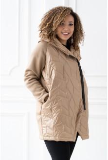 karmelowa bluza/kurtka z kapturem duże rozmiary