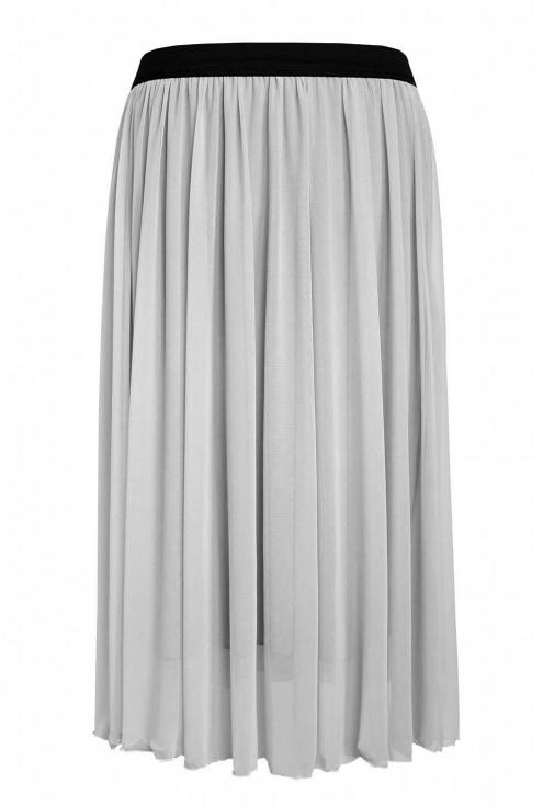 Szara tiulowa spódnica z czarną gumką - HOLLY