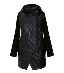 Czarna bluza-kurtka z kapturem SISSY
