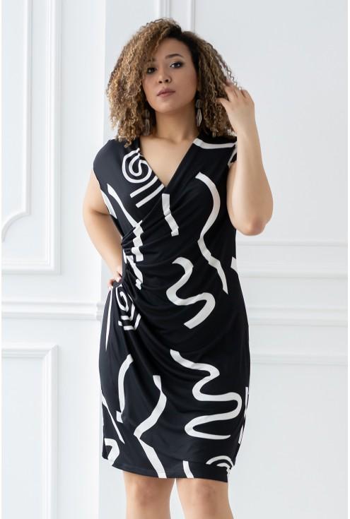 przód czarnej sukienki paloma