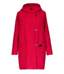 """Różowy płaszcz oversize z kapturem - TIFFANY """"melanż"""""""