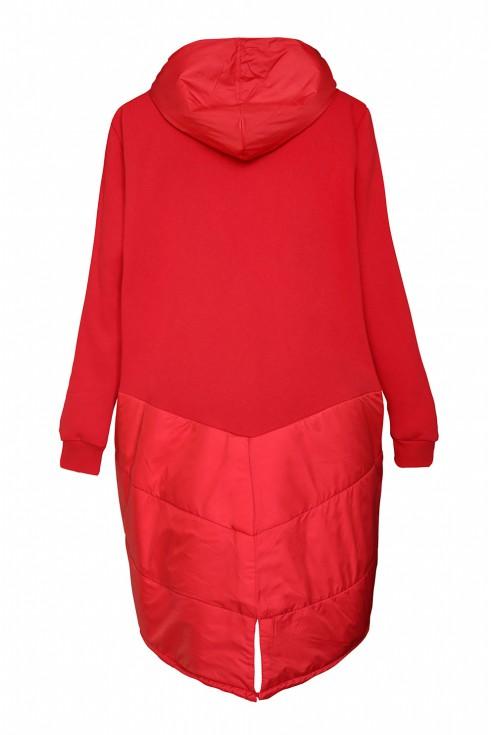tył czerwonej bluzy xxl