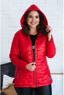 czerwona kurtka z kapturem xl