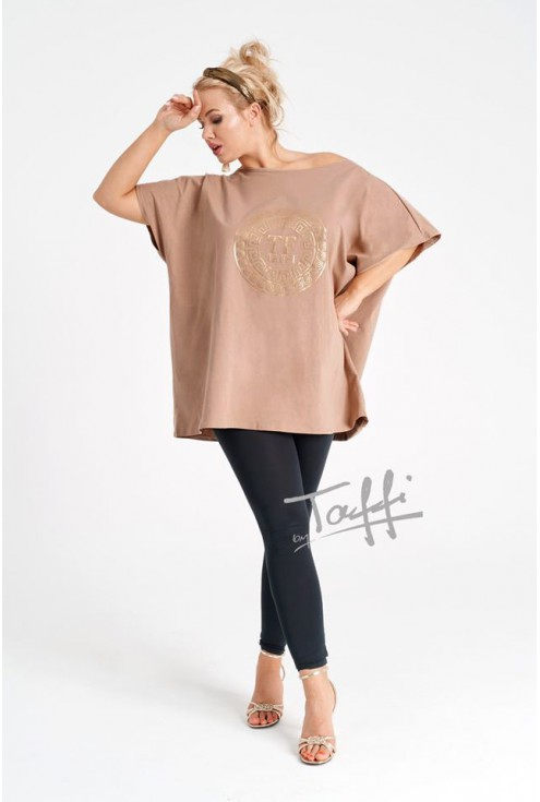 beżowa bluzka xxl oversize