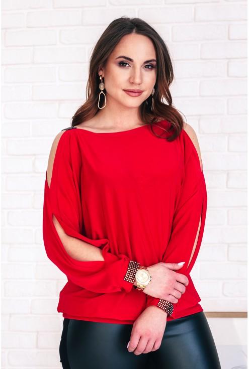 czerwona bluzka ashley xxl