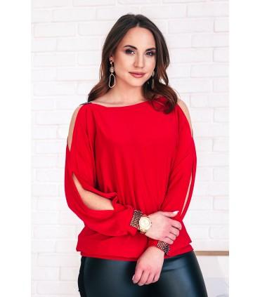 Czerwona bluzka z diamentami - ASHLEY