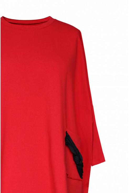 bok czerwonej sukienki xxl
