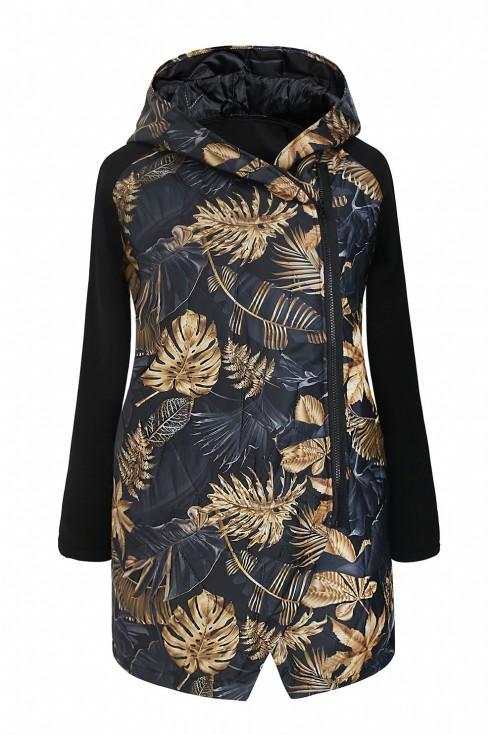 czarna bluza z wzorem w liscie