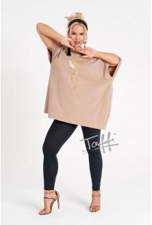 beżowa bluzka z koliberkiem - Victorii Koliber