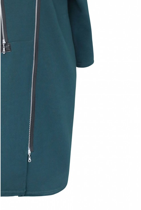 butelkowy płaszczyk dresowy - detal