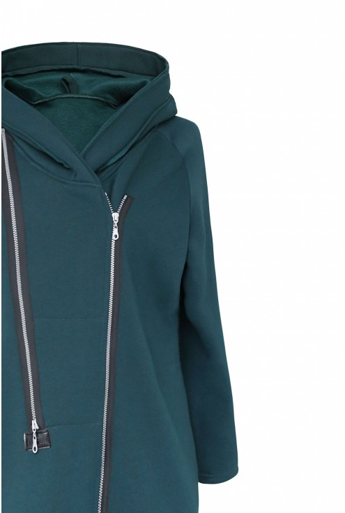 butelkowy płaszcz Arja - detal góra