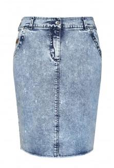 jasna jeansowa spódnica ołówkowa plus size
