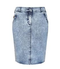 Jasna spódnica jeansowa Blue Jeans (z guziczkiem z tyłu)