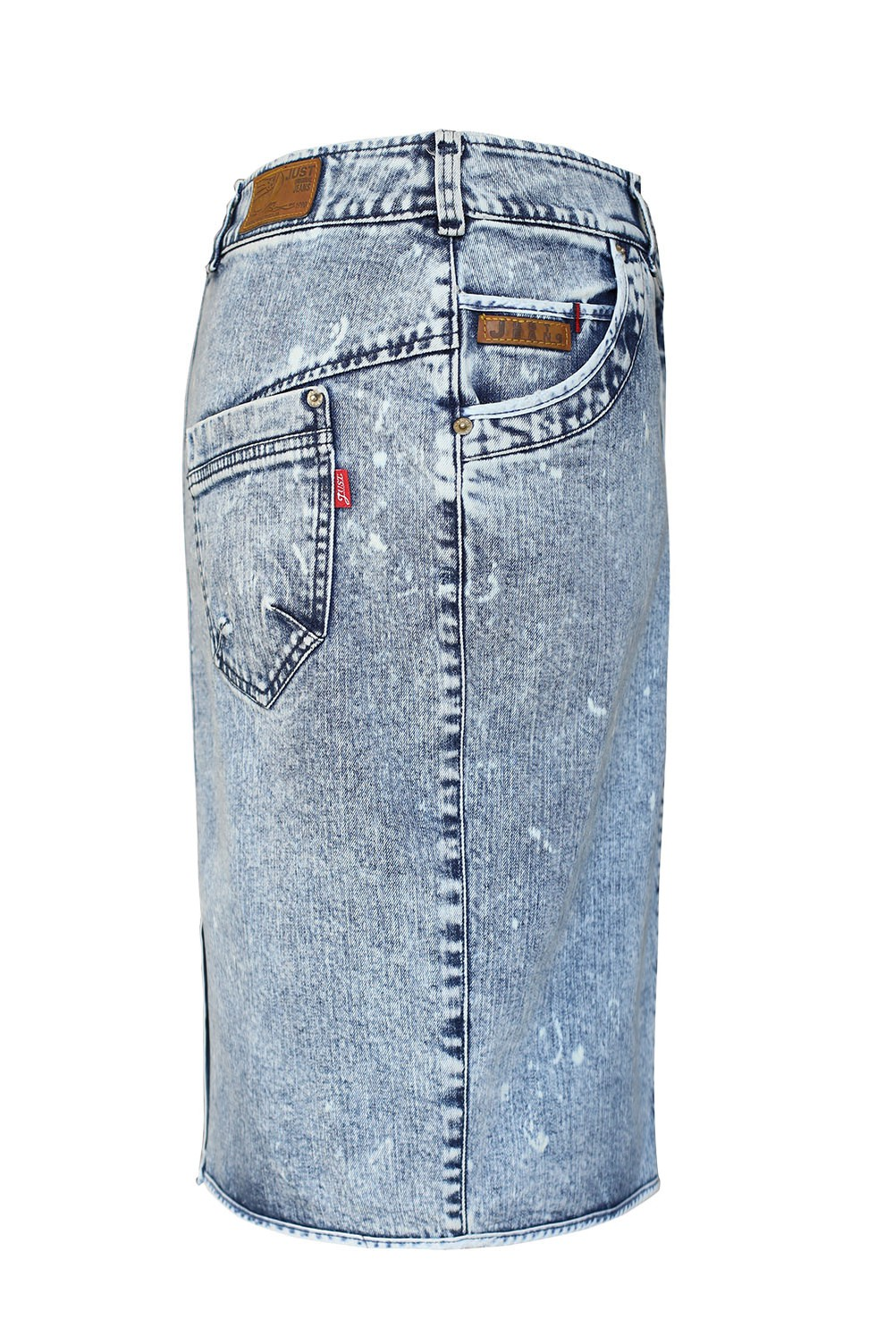Długa spódnica jeansowa jasna