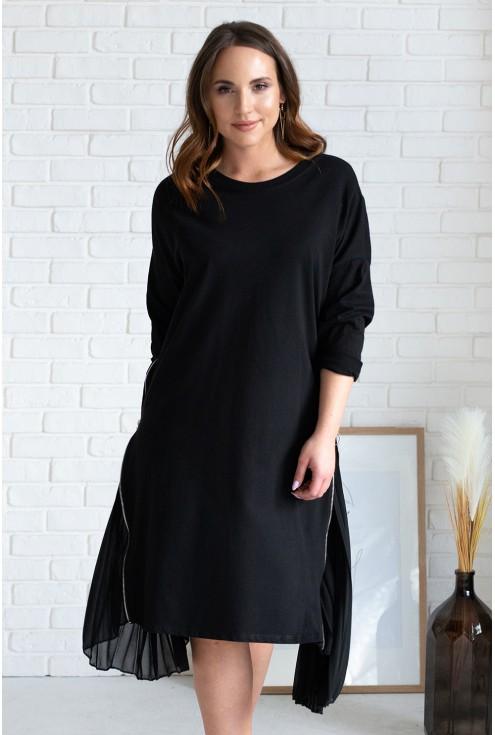 czarna sukienka z tiulem xxl