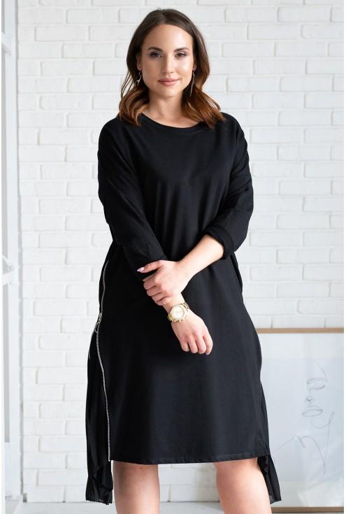 przód czarnej sukienki xxl
