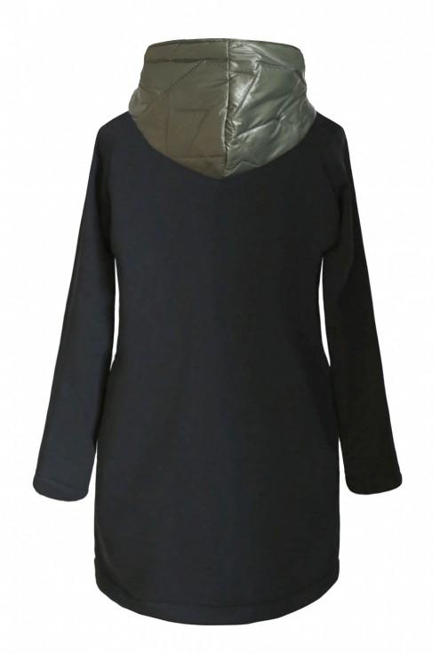 Khaki/oliwkowa bluza-kurtka z kapturem - SISSY