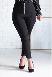 czarne spodnie z suwakiem xxl